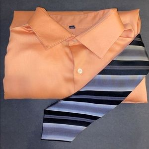 Sz18 36/37 Geoffrey Beene classic fit peachy color
